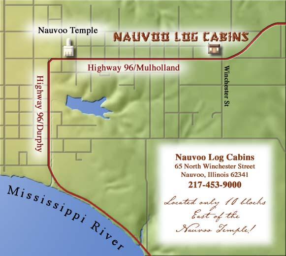 Map Nauvoo Log Cabins Llc Nauvoo Il