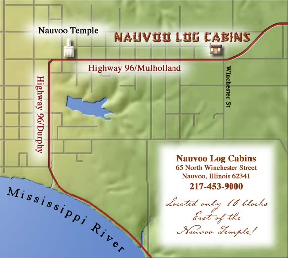 Map Nauvoo Log Cabins Llc Nauvoo Il